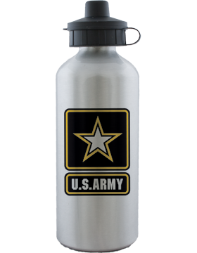 Water Bottle, Aluminum, Army Star with U.S. Army