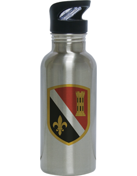 Water Bottle, Stainless Steel, 225th Engineer Brigade CSIB