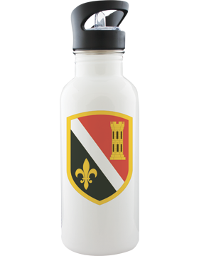 Water Bottle, White, 225th Engineer Brigade CSIB