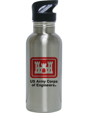 Water Bottle, Stainless Steel, US Army Corps of Engineers