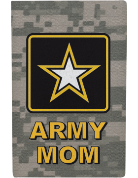 Water Bottle Insulator, Army Star with Army Mom, Camo