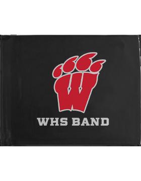 WHS Band Black Car Flag