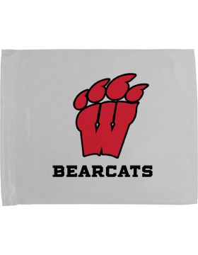 Weaver Bearcats White Car Flag