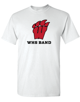 WHS Band White T-Shirt G500