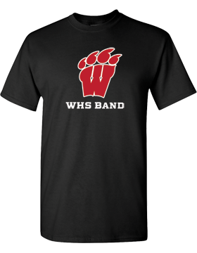 WHS Band Black T-Shirt G500