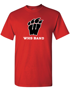WHS Band Red T-Shirt G500