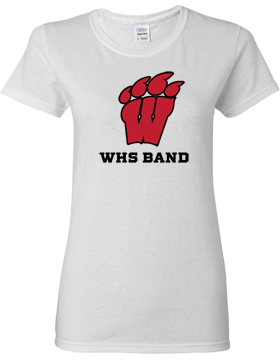 WHS Band White Ladies T-Shirt G500