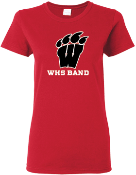 WHS Band Red Ladies T-Shirt G500