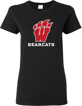 Weaver Bearcats Black Ladies T-Shirt G500