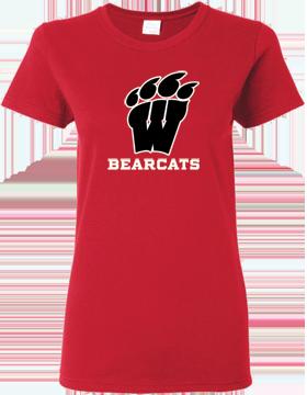 Weaver Bearcats Red Ladies T-Shirt G500