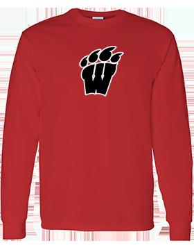 Weaver High School Long Sleeve Red T-Shirt G540