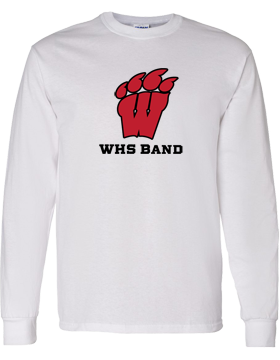 WHS Band Long Sleeve White T-Shirt G540