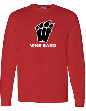 WHS Band Long Sleeve Red T-Shirt G540
