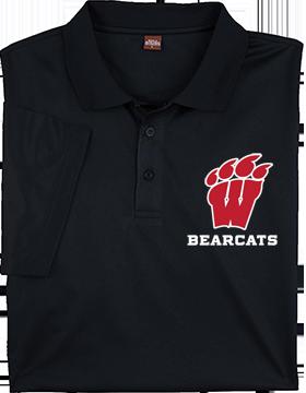 Weaver Bearcats Harriton Mens Black Polytech Polo