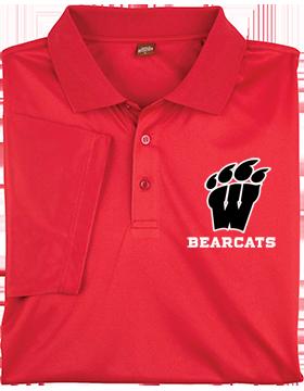 Weaver Bearcats Harriton Mens Red Polytech Polo