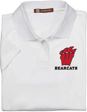 Weaver Bearcats Harriton Ladies White Polytech Polo