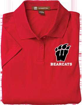 Weaver Bearcats Harriton Ladies Red Polytech Polo