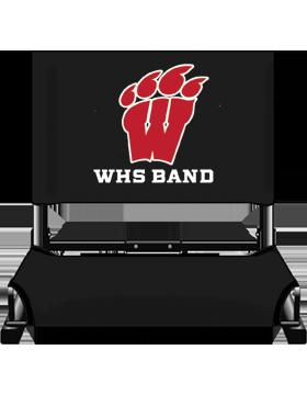 WHS Band Black Canvas Stadium Chair