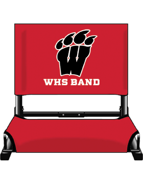 WHS Band Red Canvas Stadium Chair