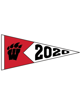 Weaver Bearcats Logo with Year Customizable Alumni Pennant Sticker