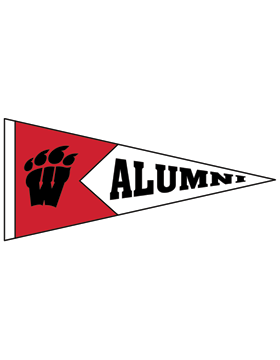 Weaver Bearcats Logo with Alumni Pennant Sticker