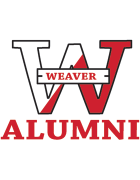 Weaver Bearcats Logo with Alumni Square Sticker