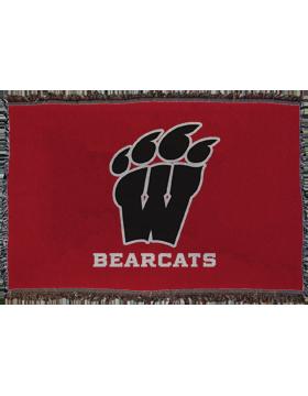 Weaver Bearcats Throw Blanket