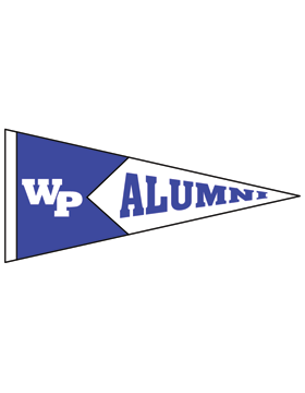 White Plains Logo with Alumni Pennant Sticker