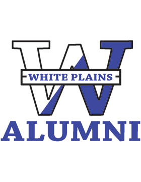 White Plains Logo with Alumni Square Sticker