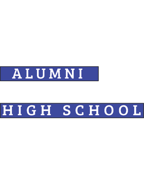 White Plains HS with Year Customizable Alumni Bumper Sticker