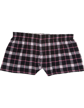 Flannel Bitty Youth Boxer Y40 Black/Pink