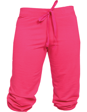 Touchdown Fleece Youth Capri YK43 Dark Fuchsia