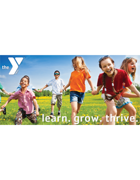 YMCA Banner Learn Grow Thrive 4x8