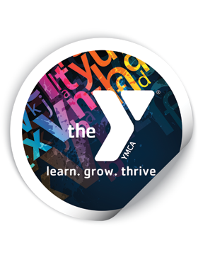 YMCA Round Sticker Learn Grow Thrive