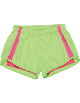 Endurance Youth Short YN64 Lime/Dark Fuchsia