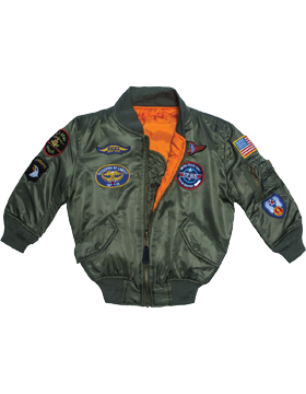 Youth MA-1 Flight Jacket with Patches YMA-1