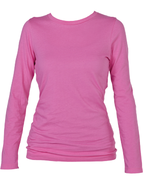 Perfect Fit Youth Long Sleeve Tee YT16 Fuchsia
