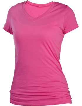 Perfect Fit Youth Tee V-Neck YT21 Fuchsia