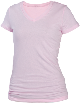 Perfect Fit Youth Tee V-Neck YT21 Pink