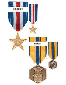 Full Size Medal with Ribbon Lapel Pin and Mini Medal Box Set