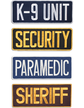 Law Enforcement Badge Patches