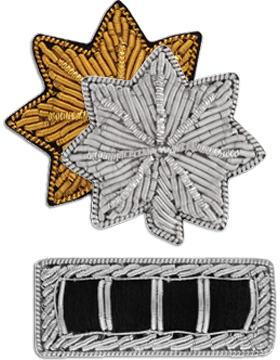Bullion Pin-On Rank