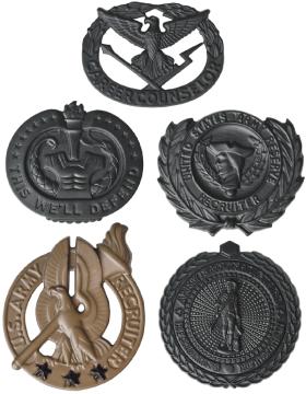 Black Metal Breast Badges