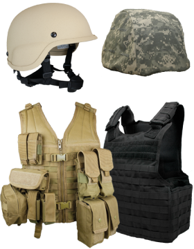 Ballistic Vest and Helmets
