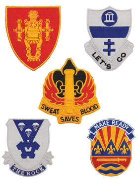 Army Unit Crest Patches