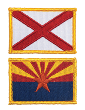 State Shield Patches