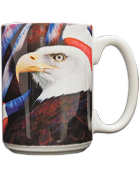 Flag with Eagle Background